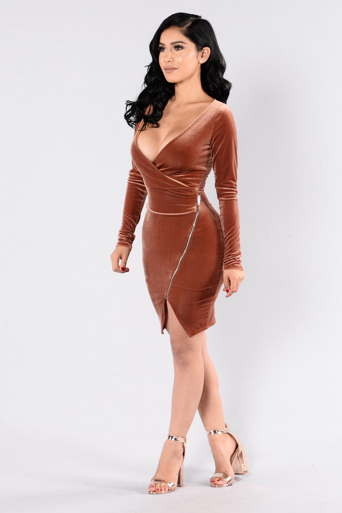 We Found Love Dress - Gold
