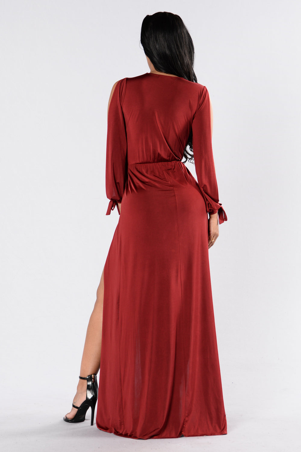Fly Robin Fly Dress - Burgundy