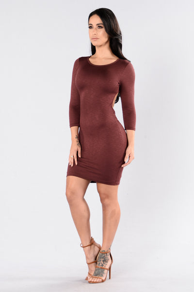 Sweet Baby Dress - Red Brown