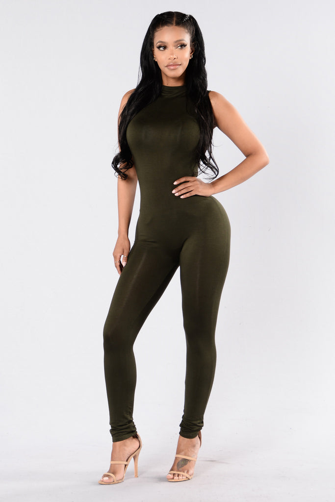 Stand By Me Jumpsuit - Dark Olive
