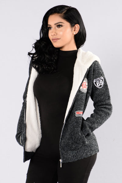 Warm Up Jacket - Charcoal