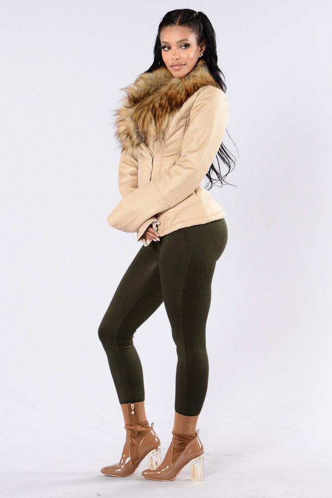Falling For You Jacket - Beige