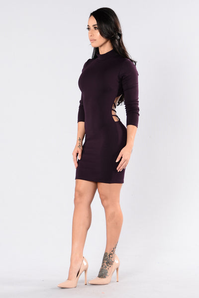 Kentucky Dress - Eggplant