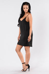 Your One And Only Slip Dress - Black