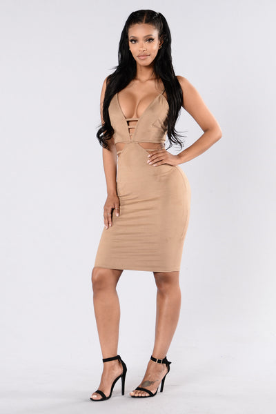 Sugar Rush Dress - Camel