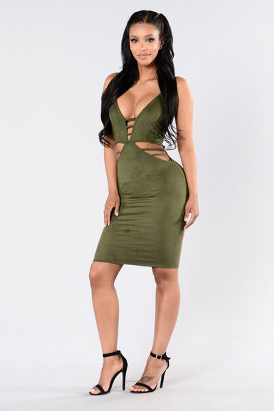 Sugar Rush Dress - Olive