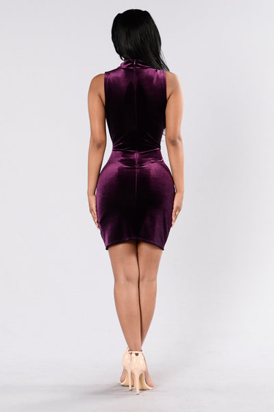 Pressure Drop Dress - Plum