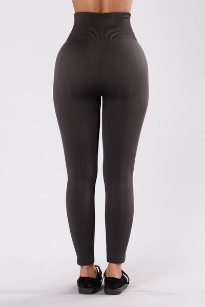 For Warmth Fleece Legging - Charcoal