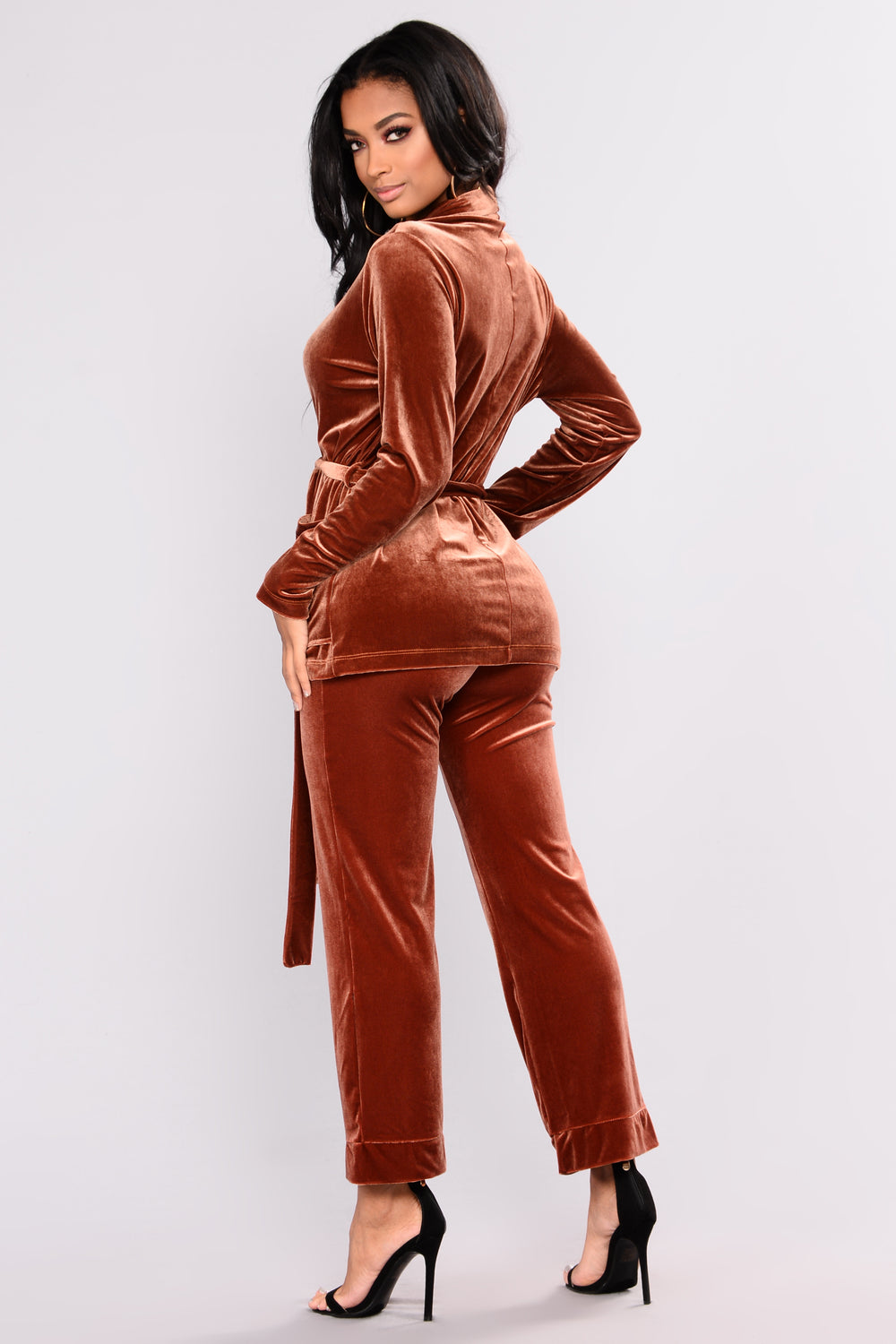 Foxy Love Velvet Set - Rust