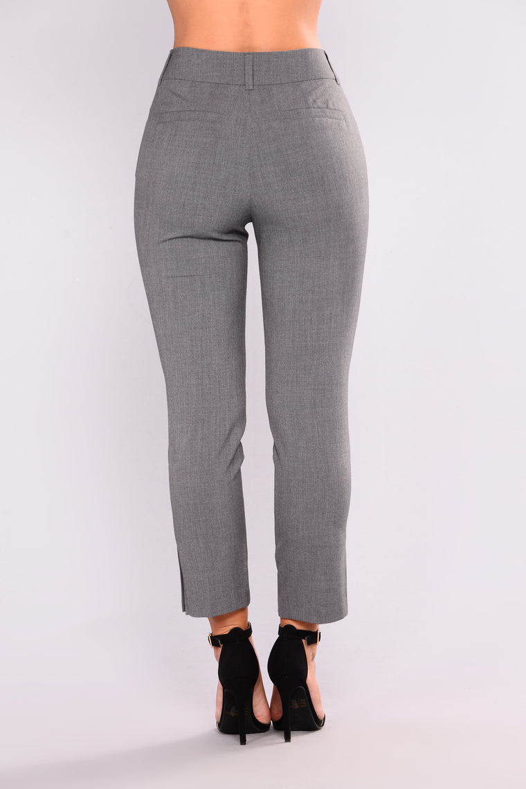 First Impression High Rise Pants - Charcoal