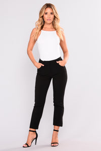 First Impression High Rise Pants - Black