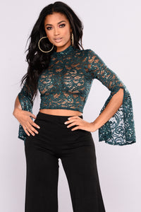 Macondray Lona Sleeve Top - Hunter Green