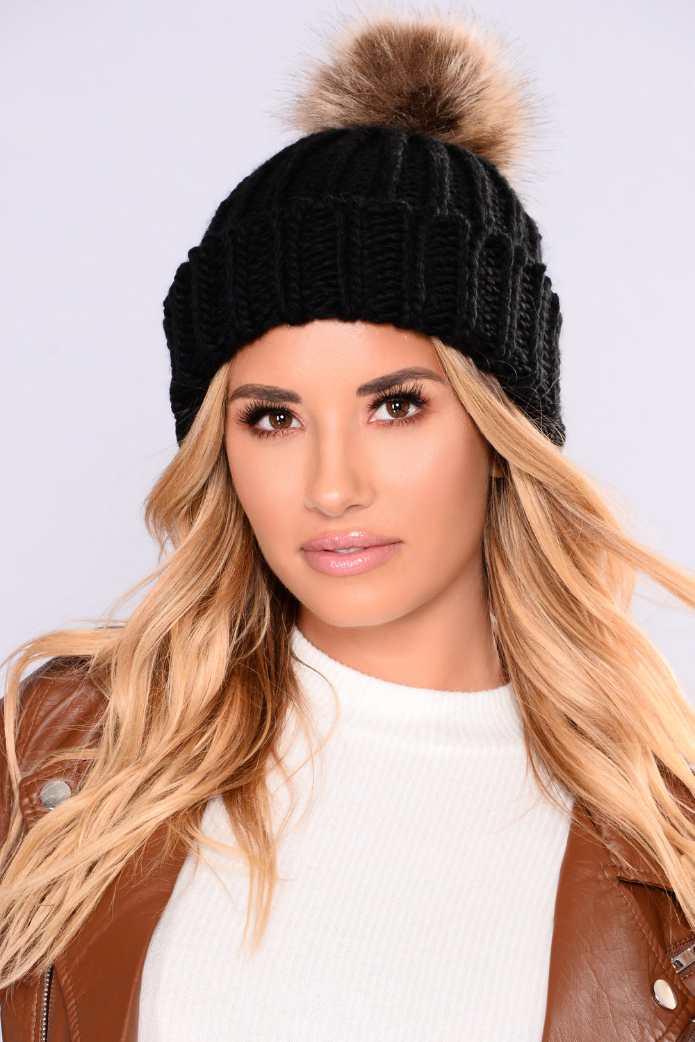 Fur So Chic Beanie - Black