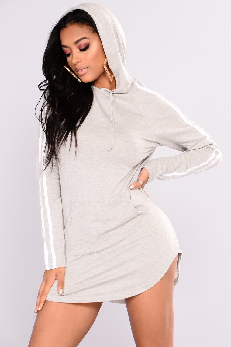Julia Lounge Tunic Dress - Grey