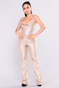 Foxy Cleopatra Jumpsuit - Gold