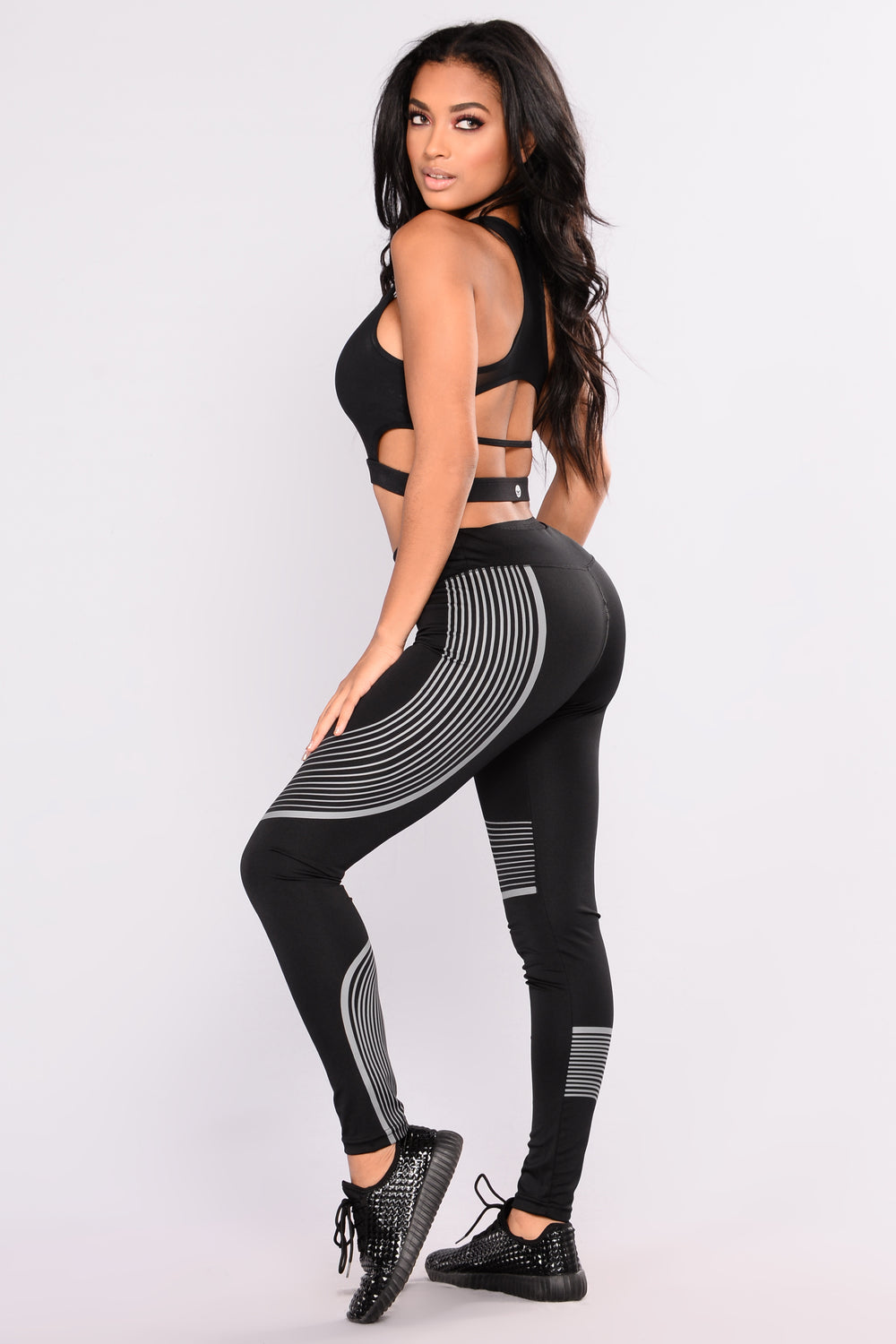 Run Hard Active Leggings - Black/Grey