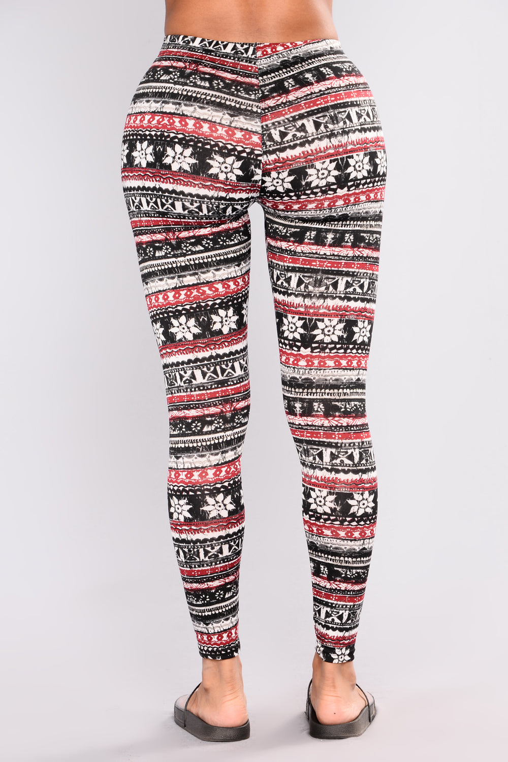 Shanaya Fleece Lined Print Leggings - Multi