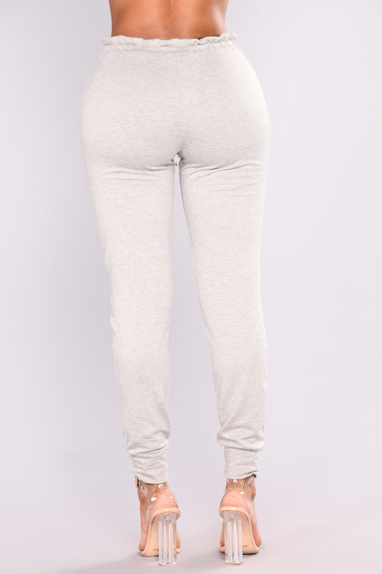 Forget Me Not Jogger - Heather Grey