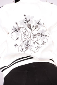 Stay Cool Bomber Jacket - White/Black
