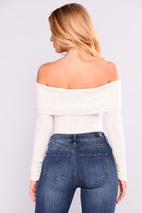 Lean On My Shoulder Bodysuit - Ivory