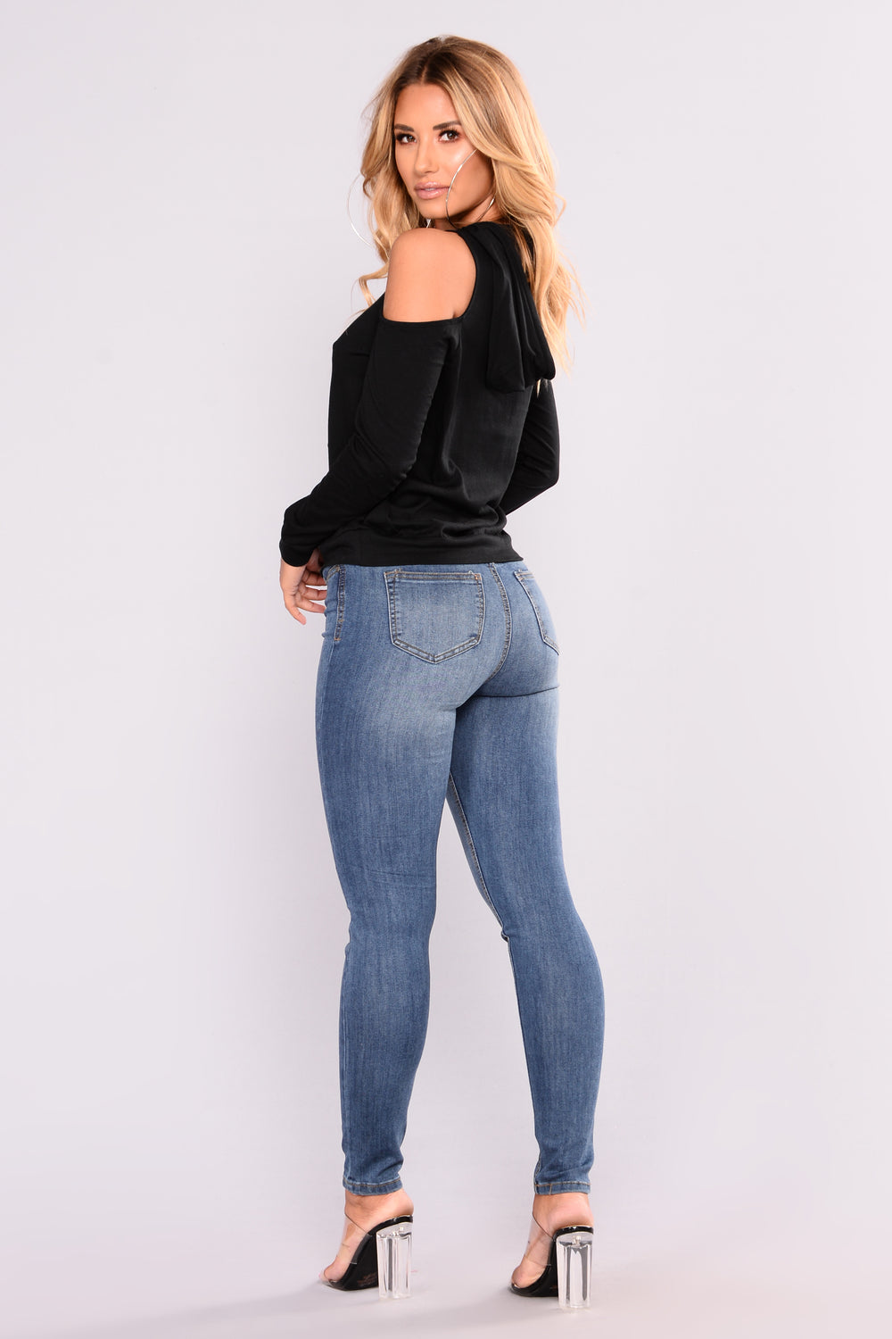 Ain't A Thang Ankle Jeans - Dark Denim