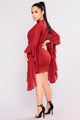 Talk With Your Hands Dress - Burgundy