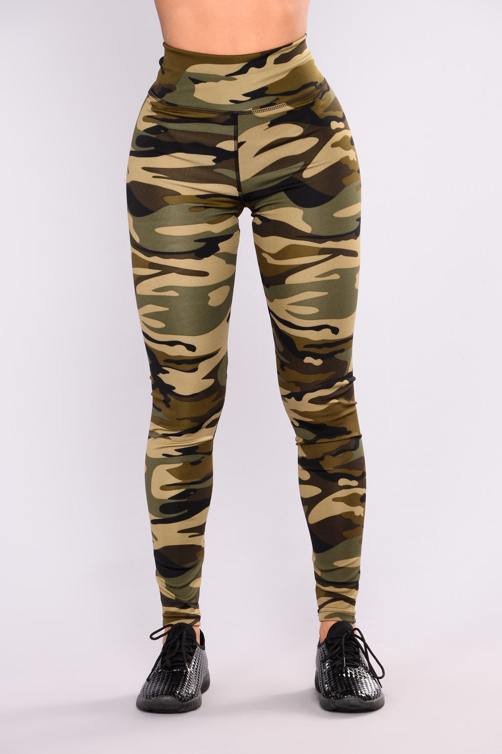 All Over The Place Print Leggings - Camo