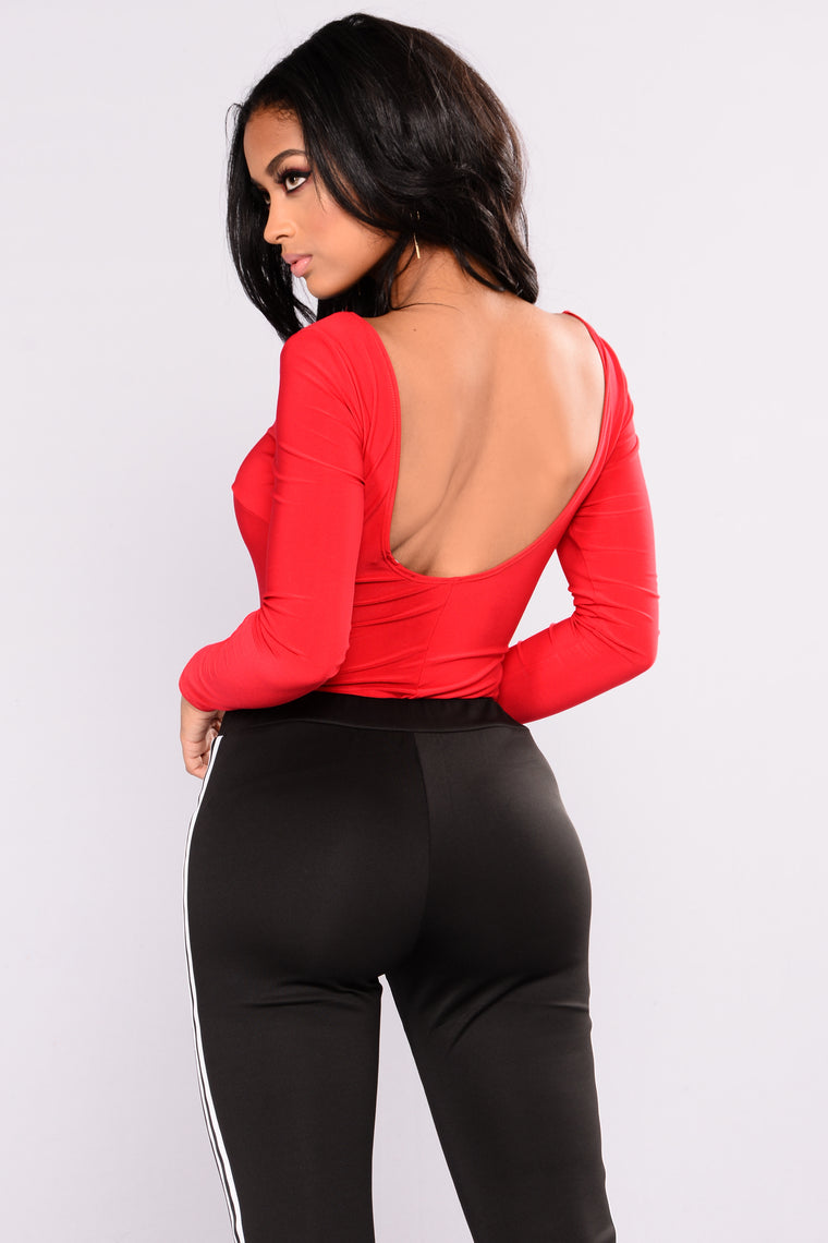 Lady In Red Bodysuit - Red
