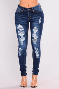 Send Your Love Skinny Jeans - Medium Blue Wash