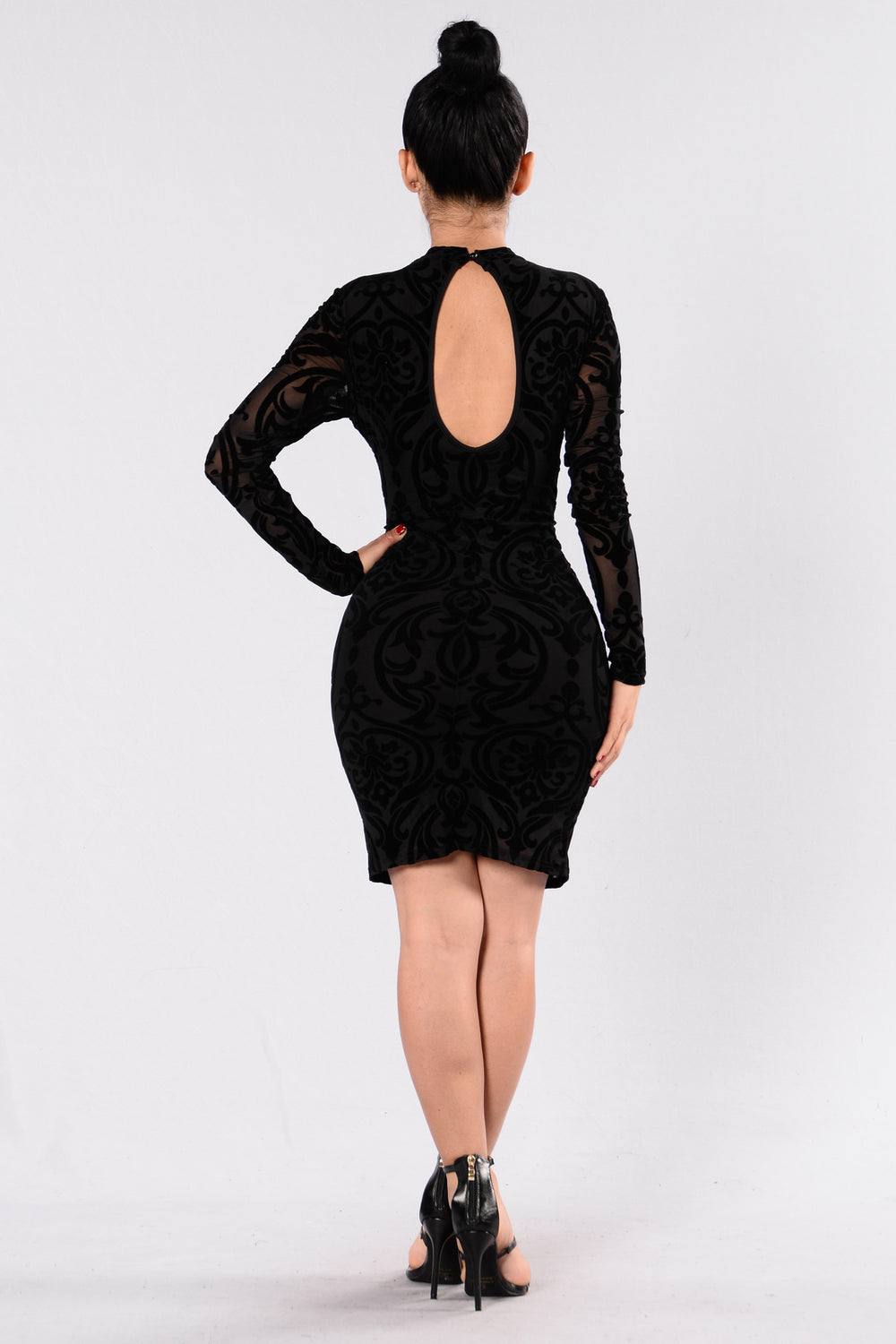 Over The Top Dress - Black