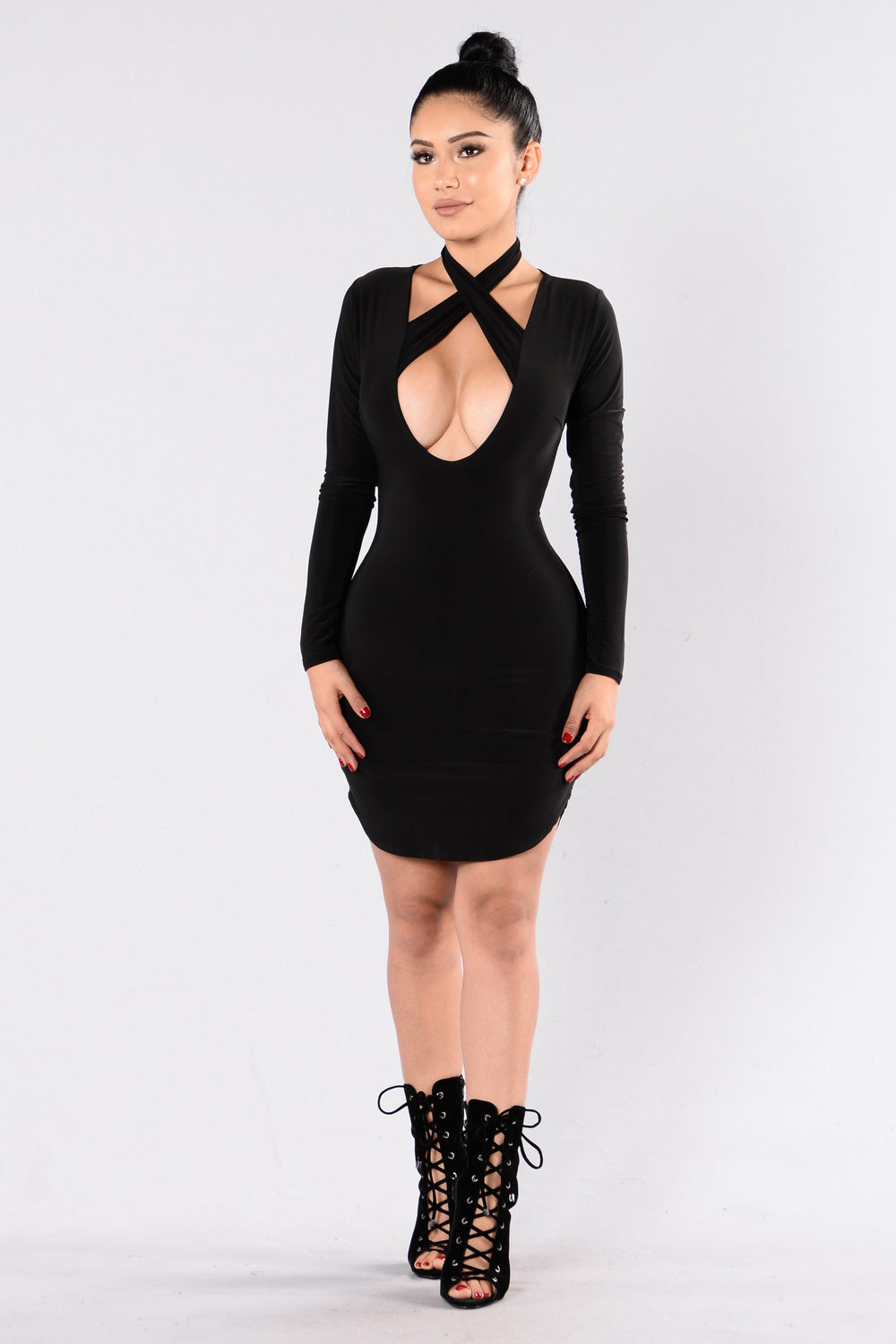 We Are Never Getting Back Together Dress - Black