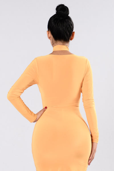 We Are Never Getting Back Together Dress - Mustard