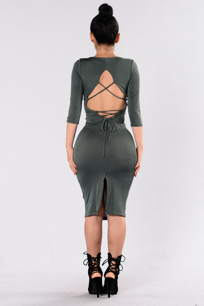 Broken Halo Dress - Olive