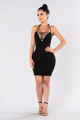 Don't Let Go Dress - Black