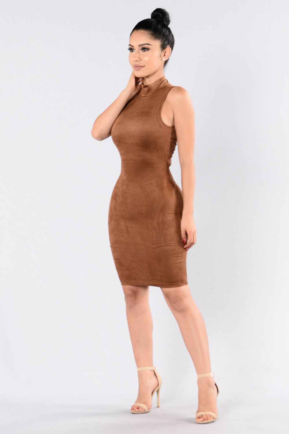 Misled Dress - Taupe