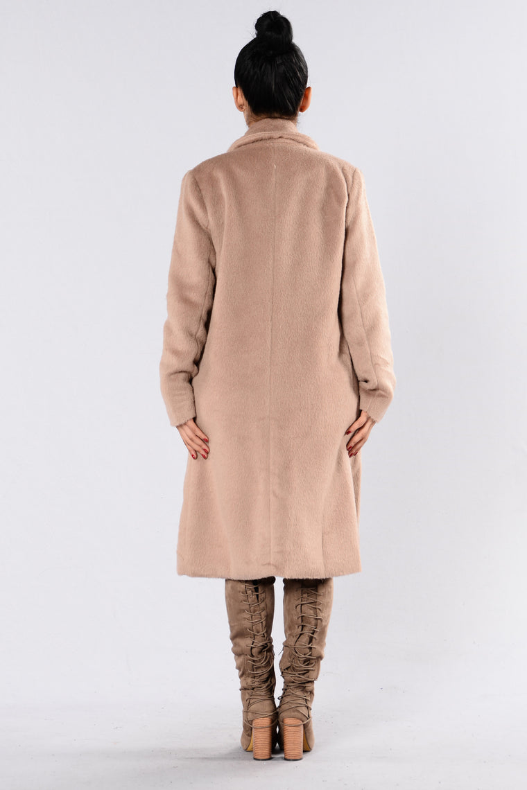 Keep Me Warm Coat - Taupe