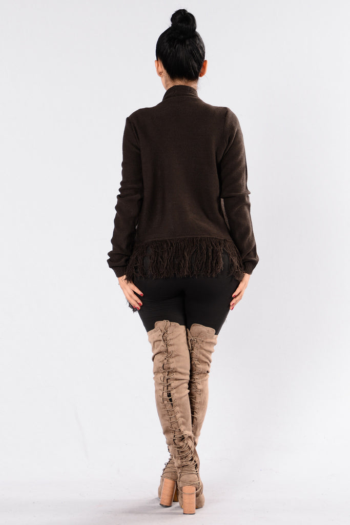 Frigid Air Sweater - Dark Brown