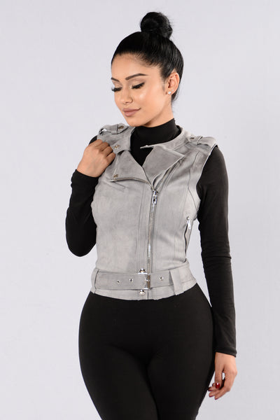 I Mean Business Vest - Grey