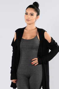 Silly Love Songs Cardigan - Black