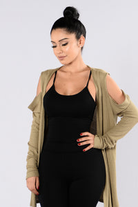 Silly Love Songs Cardigan - Olive