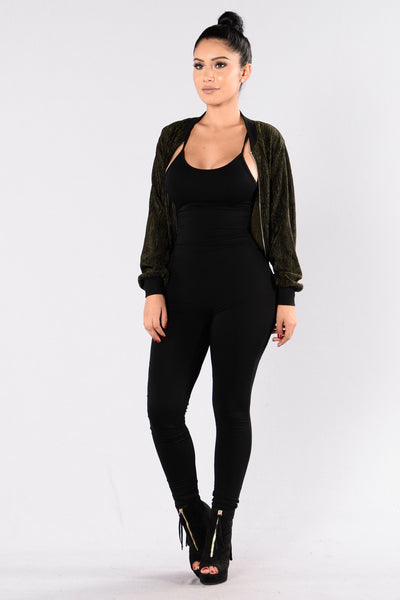 Hop On A Plane Jacket - Olive