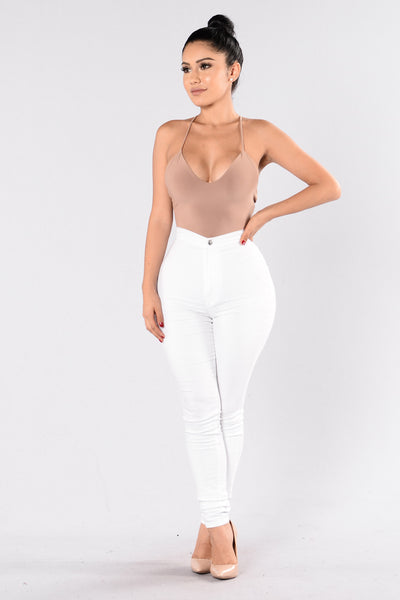 Everytime We Touch Bodysuit - Mocha