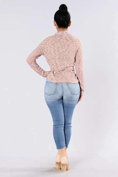 Schooling Life Sweater - Blush