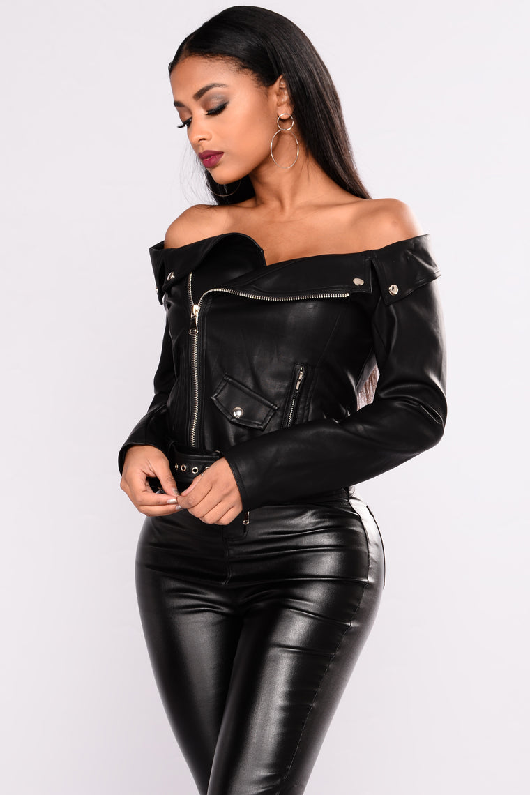 Ride With You Moto Jacket Top - Black