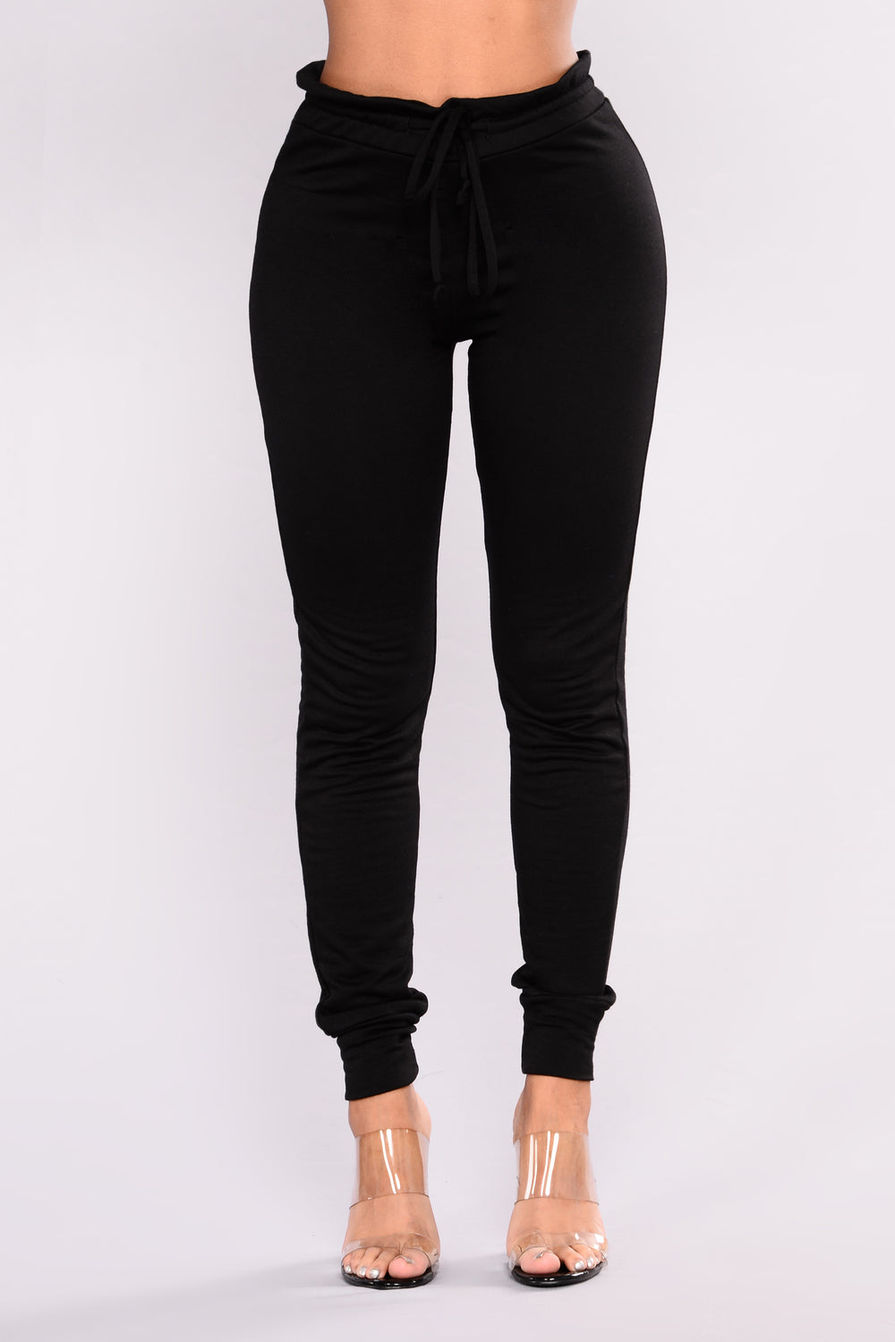 Forget Me Not Jogger - Black