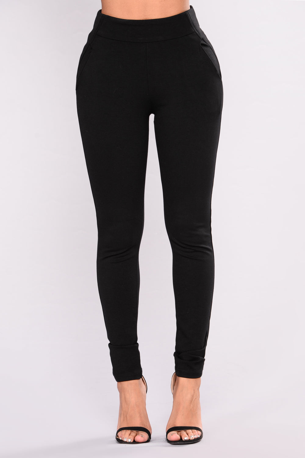 Kelli Ponte Pants - Black