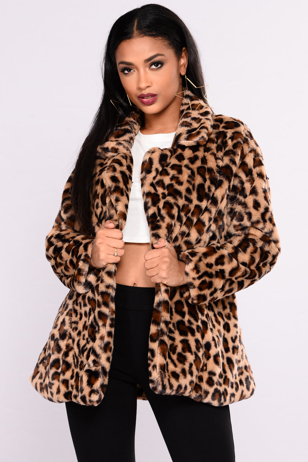 Cause I'm Cozy Faux Fur Jacket - Brown