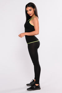 Go Hard Active Tank Top - Neon Yellow