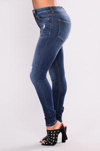 Down With It Skinny Jeans - Dark Denim