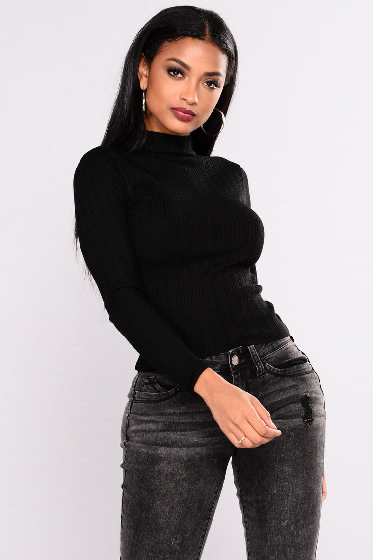 Baldwyn Long Sleeve Sweater - Black